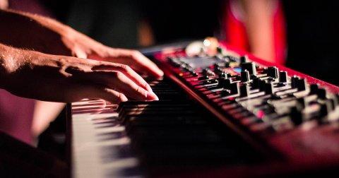 dude playing piano