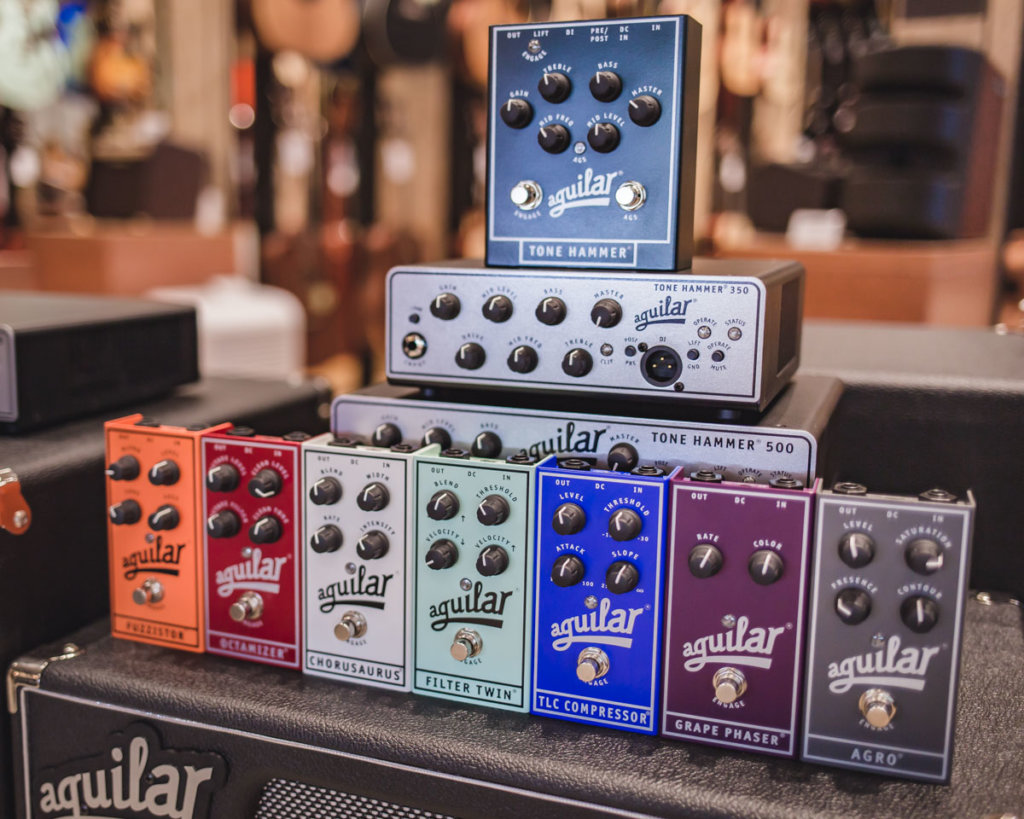 Aguilar Amplification amp heads and pedals