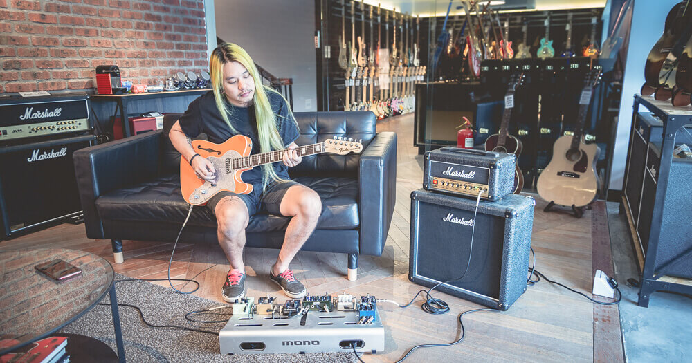 Darren Teh An Honest Mistake Pop Punk Pedal Feature Walrus Audio TC Electronic Guitar Pedals MONO Pedal board Marshall Amp