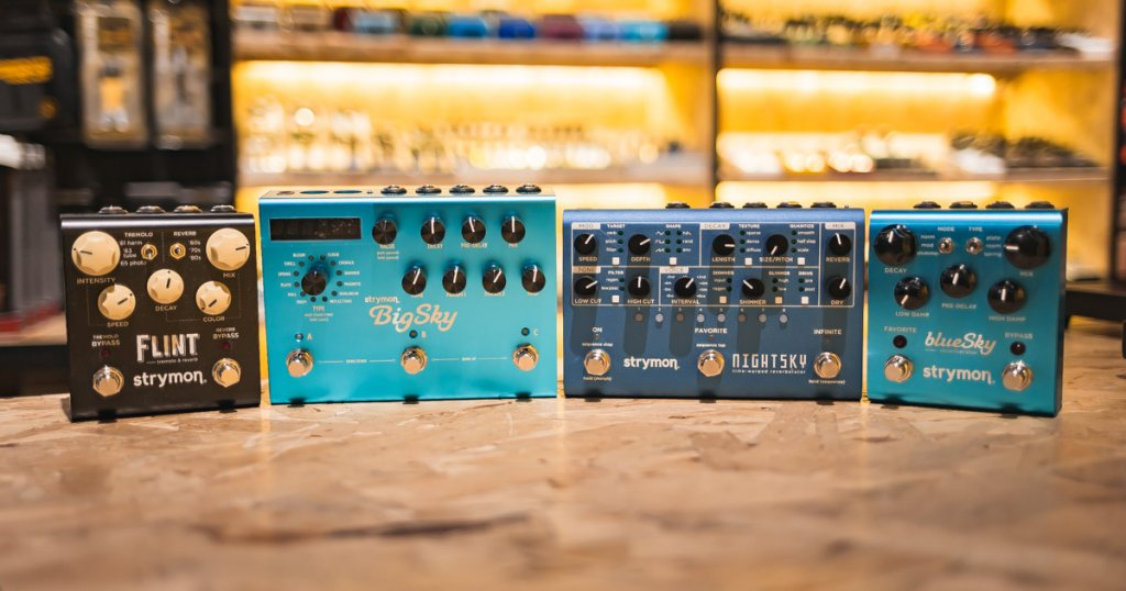 Every Strymon Reverb pedal compared