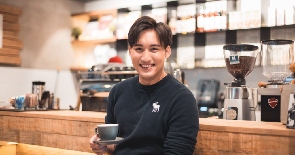 Marcus Lee in a coffee shop in Singapore