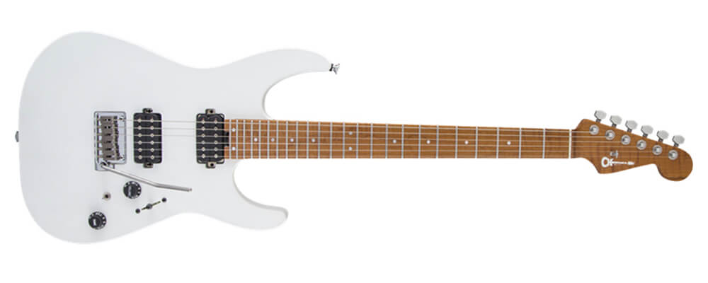 Charvel USA Select DK24 HH 2PT Caramelised Maple in Snow White
