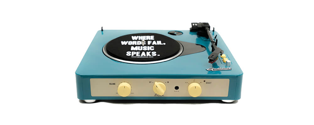 Gadhouse Brad Turntable Record Player with Bluetooth 5.0, Green