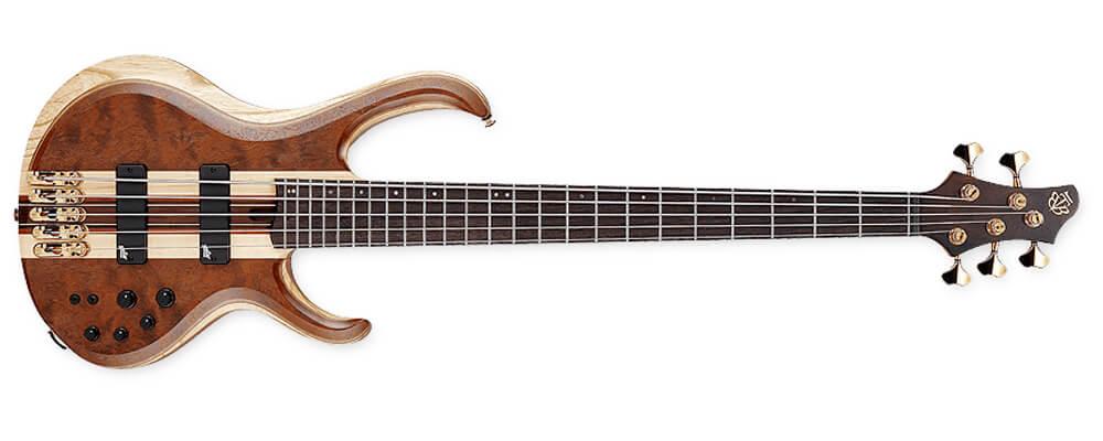 BTB1835-NDL 5-String Electric Bass Guitar w/Gig Bag, Natural Shadow Low Gloss