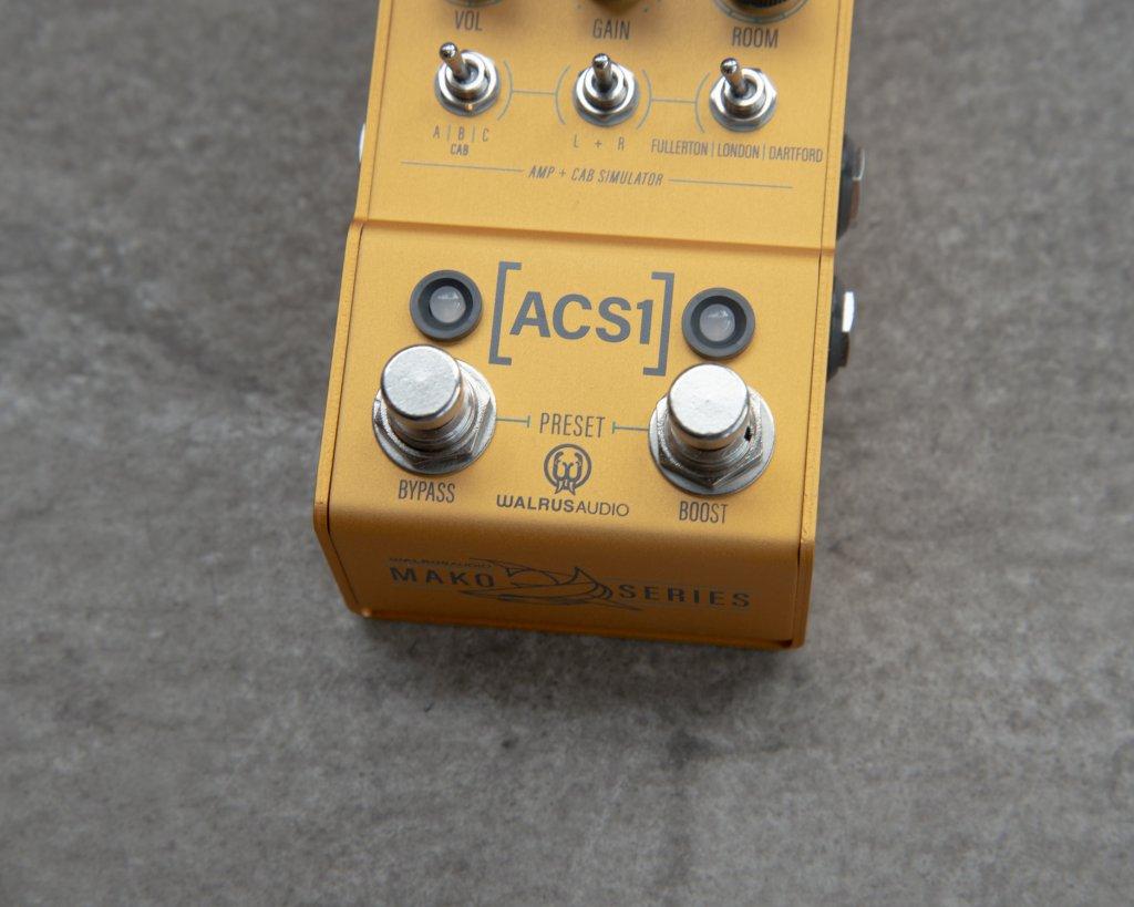 Walrus Audio Mako Series ACS1 Boost Closeup