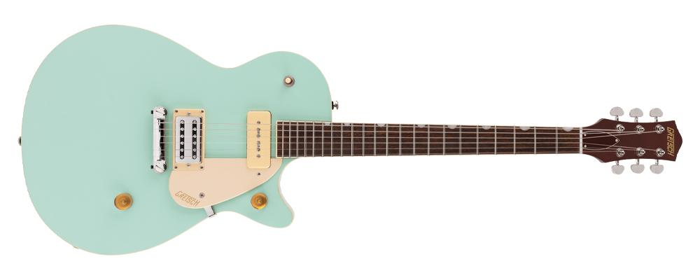 Gretsch G2215-P90 Streamliner Junior Jet Club Electric Guitar, Laurel fretboard, Mint Metallic