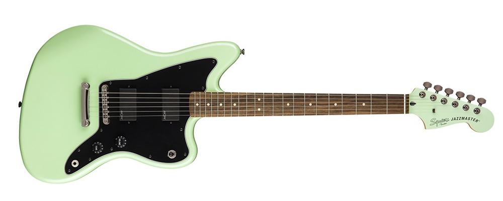 Squier Contemporary Active Jazzmaster HH Electric Guitar, Laurel fretboard, Surf Pearl double humbuckers