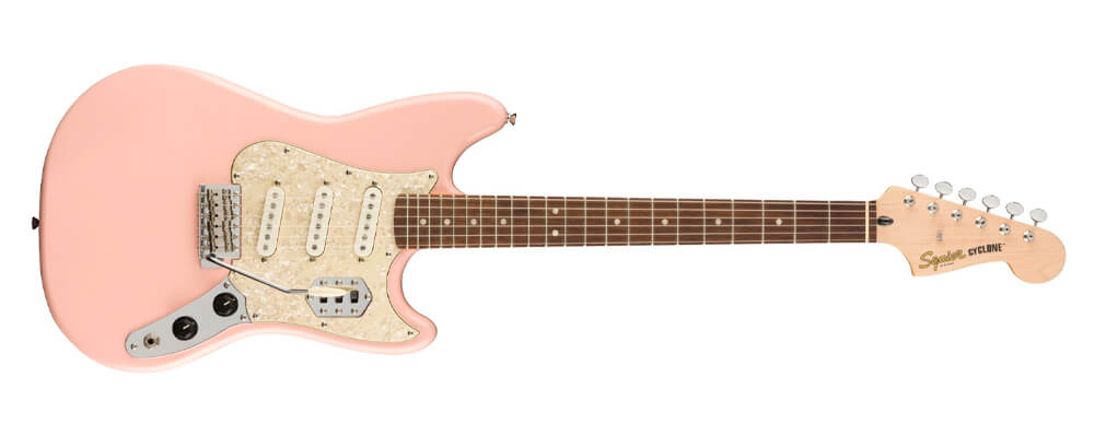 Squier Paranormal Series Cyclone Electric Guitar, Shell Pink