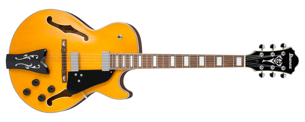 Ibanez GB10EM-AA George Benson Signature Electric Guitar, Antique Amber