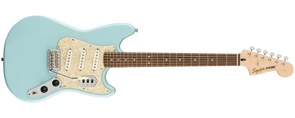 Squier Paranormal Series Cyclone Electric Guitar, Daphne Blue