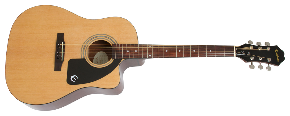 Epiphone AJ-100CE Acoustic-Electric Guitar - select laminate spruce top,  laminate mahogany back and sides, and a rosewood fingerboard