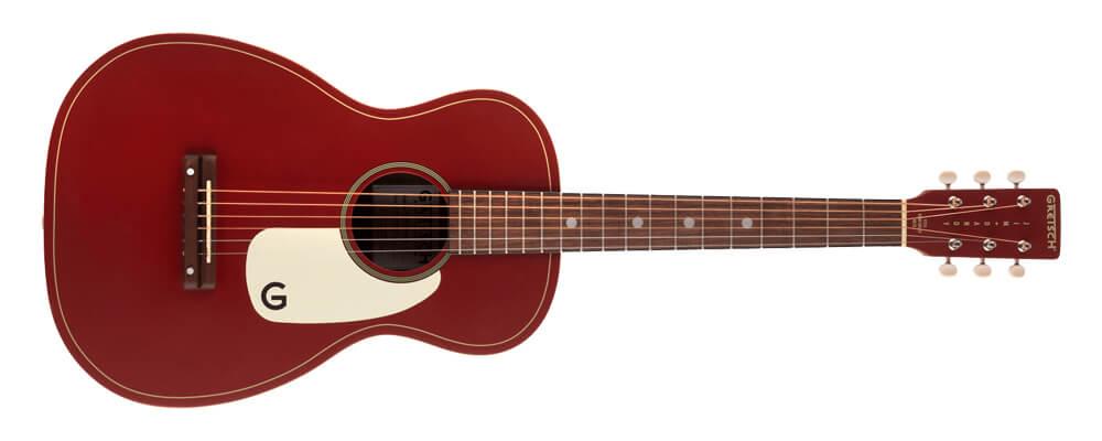 Gretsch G9500-OXB Ltd Ed Jim Dandy Acoustic Guitar, Walnut FB, Oxblood, a full laminate wood construction guitar