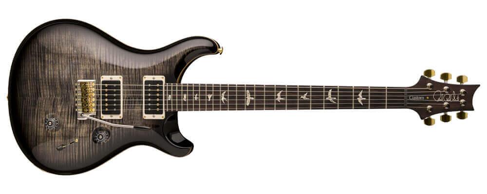 PRS Custom 24 Electric Guitar w/Case, Black Gold Burst