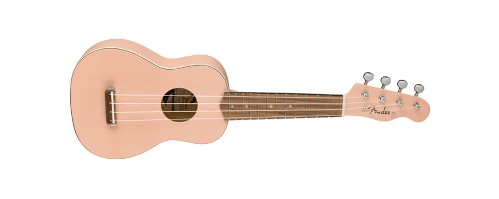Fender Venice Soprano Ukulele, Shell Pink