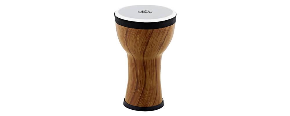 NINO Percussion NINO-EMDJ-TA 6inch Elements Mini Djembe, Plastic Head, Twisted Amber