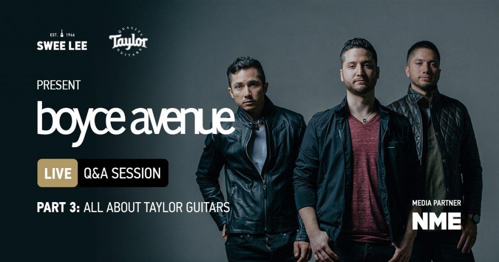 Boyce Avenue talk Taylor Guitars