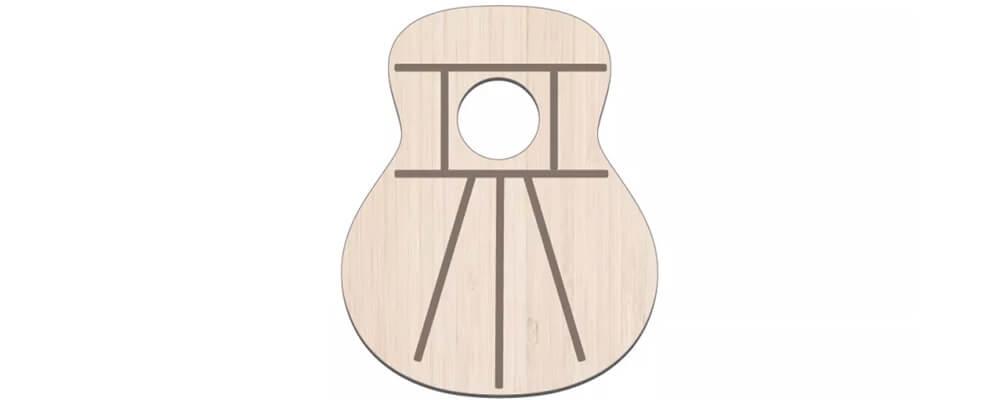 Fan Acoustic Guitar Bracing