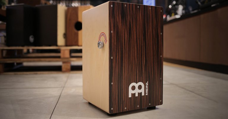 a cajon in a music store