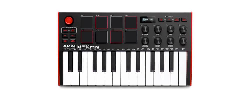 Akai MPK Mini Mk3 Compact Keyboard Controller Home Recording Studio