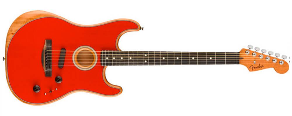 Fender American Acoustasonic Stratocaster w/Bag, Dakota Red