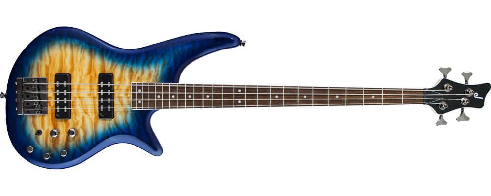 Jackson JS Series Spectra Bass JS3Q QMT Electric Bass Guitar, Amber Blue BurstMerdeka