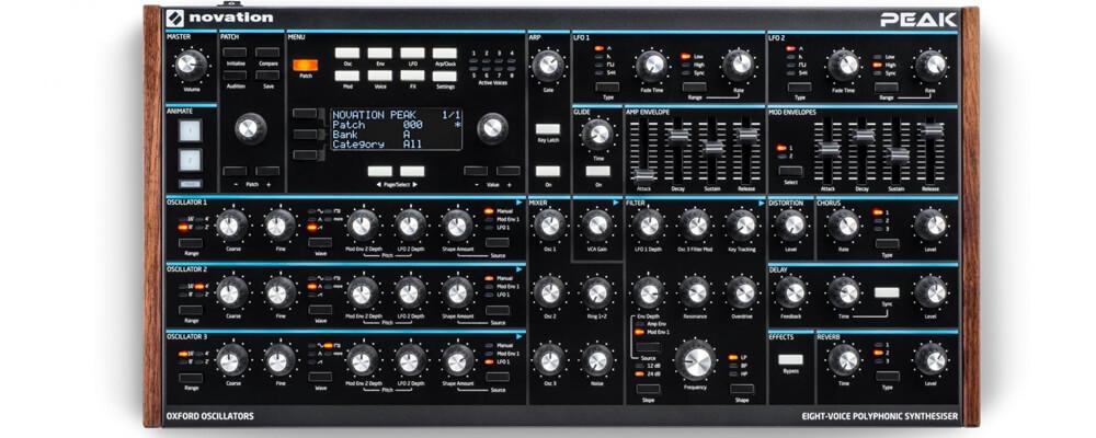 Novation Peak Eight-voice Polyphonic Desktop Synthesiser