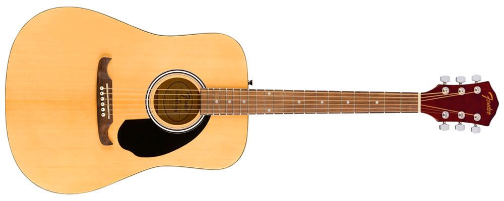 Fender FA-125 Dreadnought Acoustic Guitar w/bag, Walnut FB, Natural Best Acoustic Guitars Under $500
