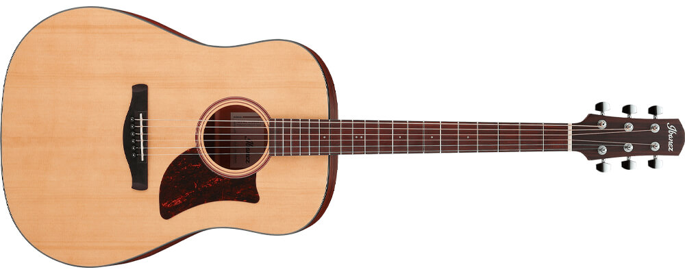 Ibanez AAD100-OPN Acoustic Guitar, Open Pore Natural Best Acoustic Guitars Under $500